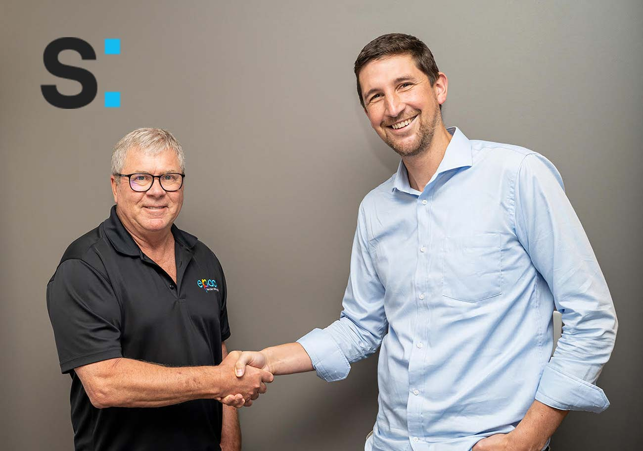Carl Joachim from ePacConnect and Nathan J. Anderson from Scantrust